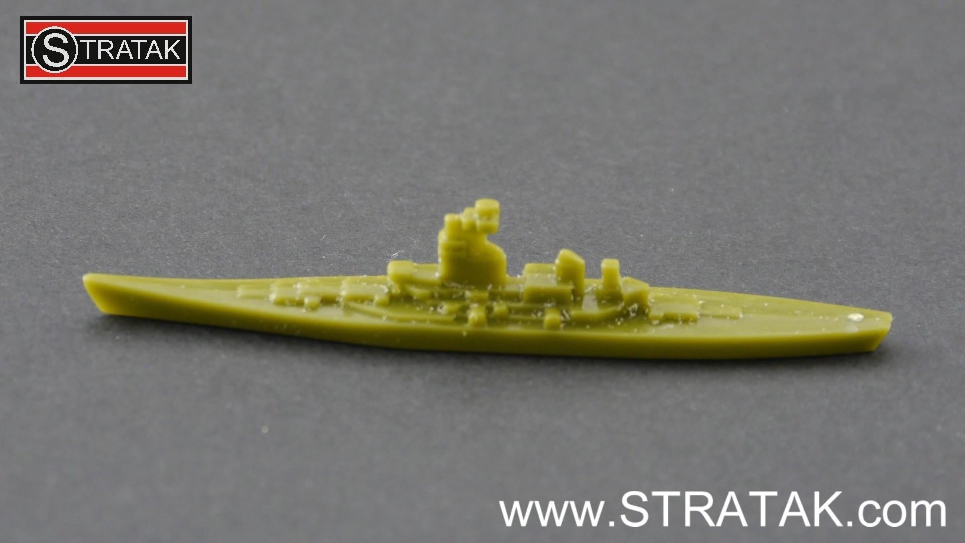 Axis & Allies battleship Iowa USA green