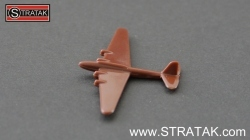 Axis & Allies Bomber Pe-8 Russia in dark brown