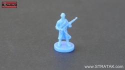 Axis & Allies Infantry miniature for France in blue colour