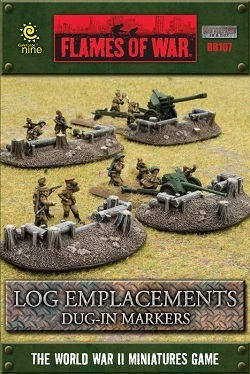 FLAMES OF WAR BB107 Log Emplacements Dug-In Markers