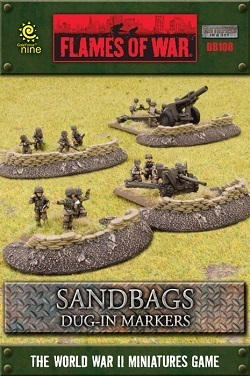 FLAMES OF WAR BB108 Sandbags Dug-In Markers