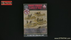 FLAMES OF WAR BB109 Desert Sandbags Dug-In Markers