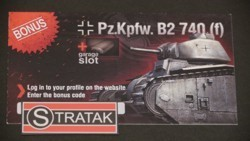 Hobby World World of Tanks Bonuscard B2 740f