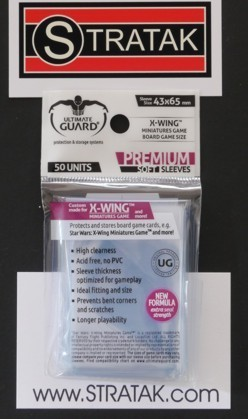 Ultimate Guard 50 X-Wing Sleeves 43x65 mm clear