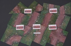 Mousepad terrain set 20 x 20 cm dirt path