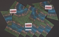 Terrain mat set 20 x 20 cm blue river