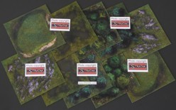 Mousepad terrain mat set 20 x 20 cm different terrain