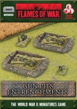 FLAMES OF WAR BB118 Entrenchments Gun Pit Markers