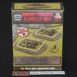 FLAMES OF WAR BB120 Sandbags Gun Pit Markers