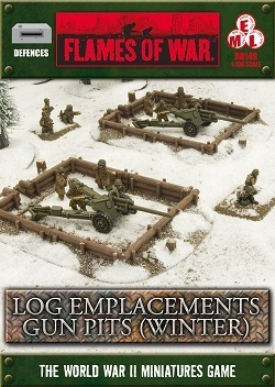 FLAMES OF WAR BB149 Log Emplacements Gun Pit Markers