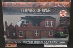 FLAMES OF WAR BB235 Destroyed Brick Factory