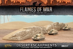 Flames of War BB217 Desert Escarpments Wüsten Steilhang