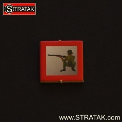 STRATAK WARS Infanteriemarker Japan in rot